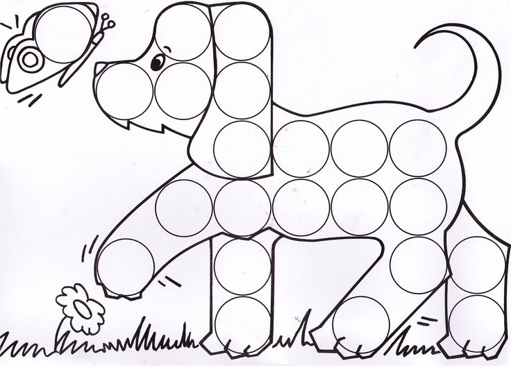 bingo dot coloring pages - photo#17