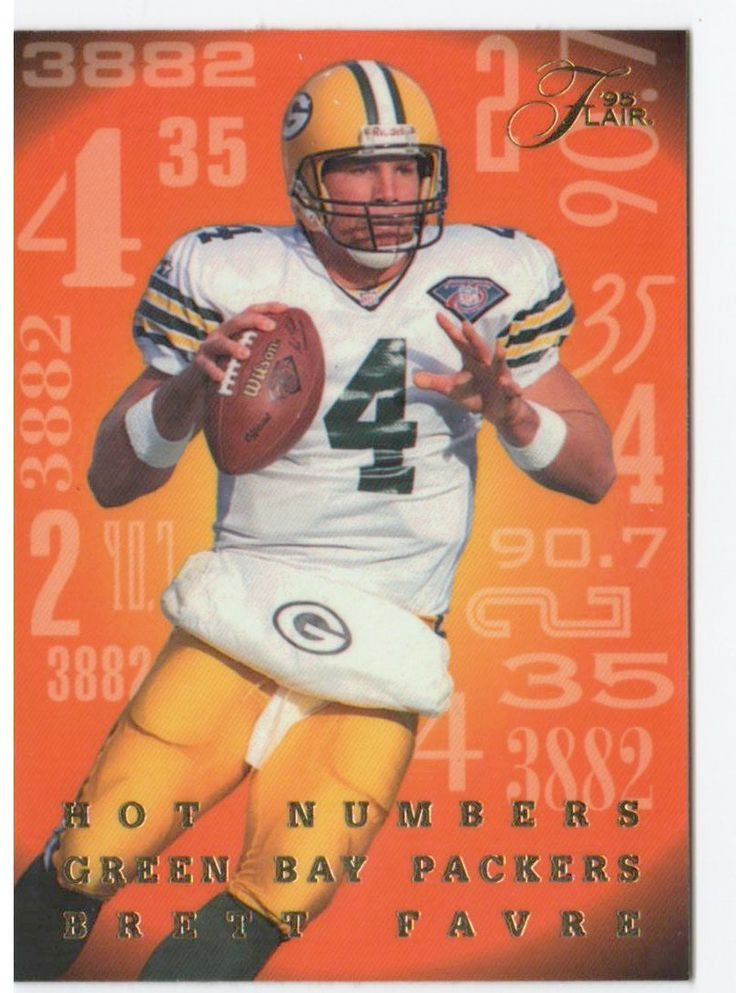 Buy 1995 flair brett favre hot numbers green bay packers