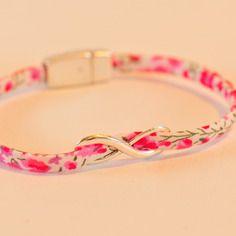 Bracelet liberty rose et infini argenté