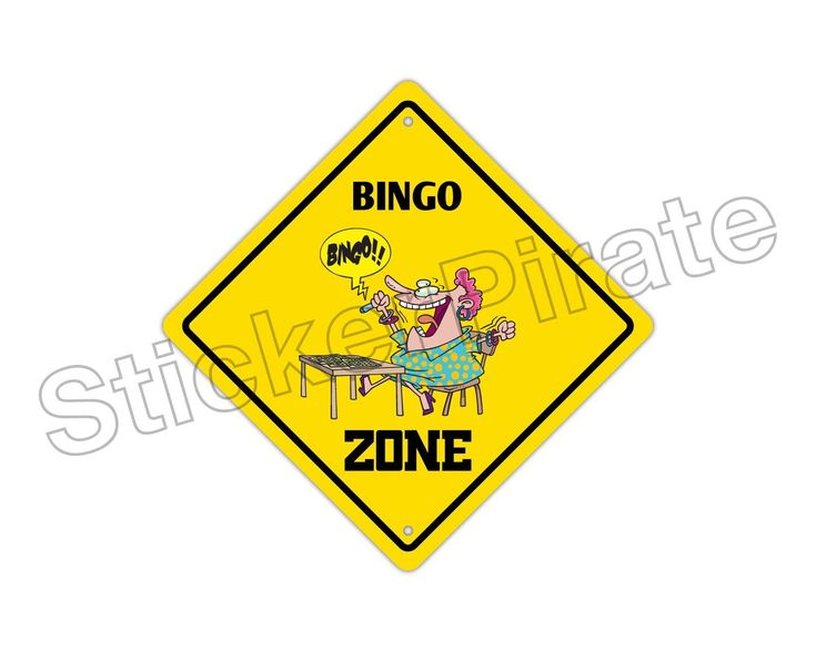 "Aluminum Bingo Zone Funny Metal Novelty Sign 12""X12"""
