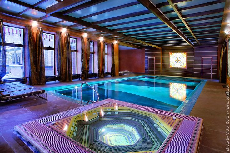 Indoor pool w sweet lighting home pinterest house for Luxury home plans with indoor pool