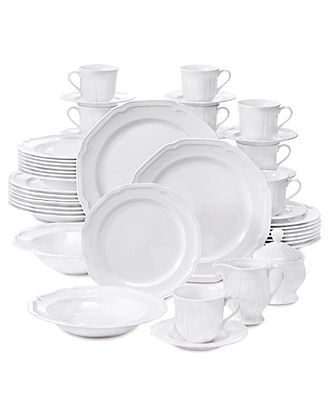 Mikasa Dinnerware, Antique White 45 Piece Set - Fine China - Dining & Entertaining - Macy's Bridal and Wedding Registry
