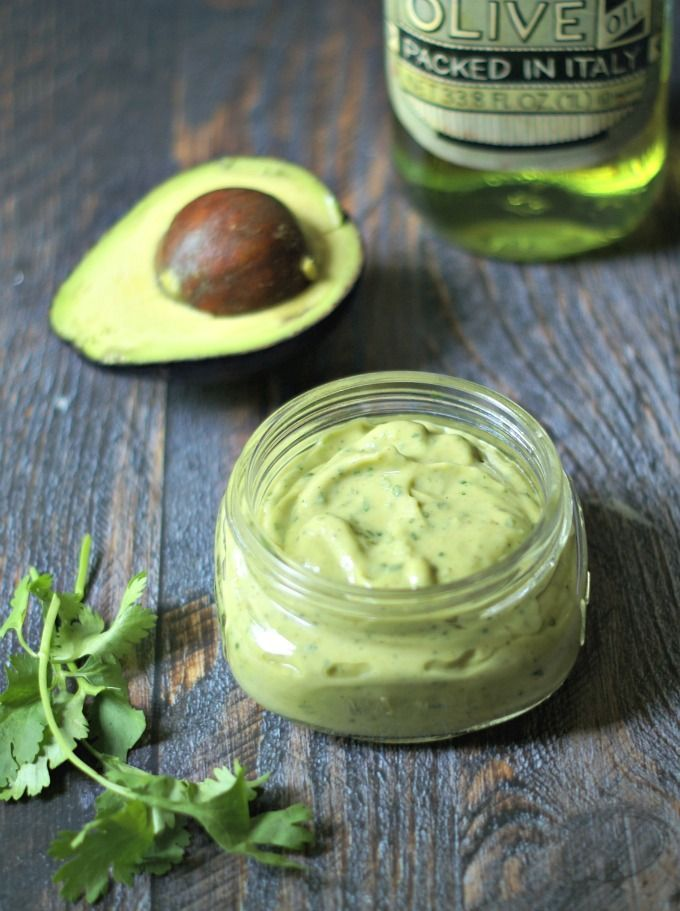 Creamy Avocado Lime Dressing - low carb, Paleo dressing that can be used with chicken and fish too! Great on tacos.