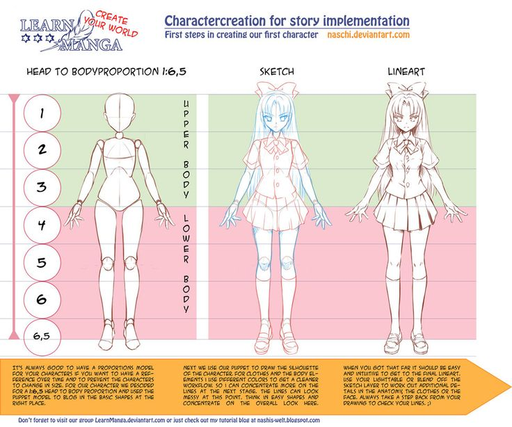Learn Manga: Create your World - CC Proportions by Naschi on DeviantArt