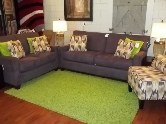 Eggplant Sofa Love Seat And Latham Chair 1 Sealy Oncampus 1534 Greensboro Ave