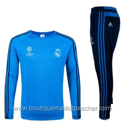 Survêtement de foot Ligue des Champions Training Real Madrid 2016 bleu
