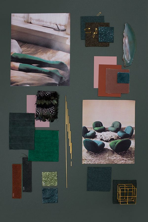 How to create a tone-on-tone Mood Board-The Green Series via Eclectic Trends