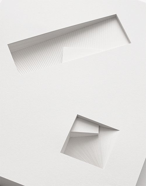 Bianca Chang | Form in white (Shared prism), 2013 | paper