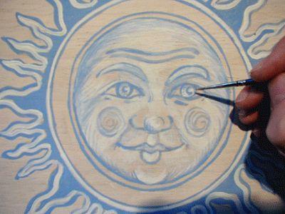 técnicas murales técnicas de acristalamiento y pintura de lavado de color de transferencia de imagen Modelo