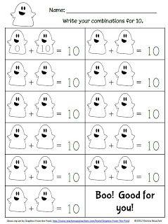 Math Coach's Corner: Boo! Ghostly Math Fun