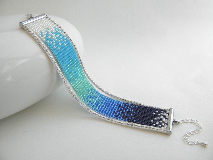 Bracelet fait main perles de rocaille Miyuki dégradé de blanc et bleus | Bijoux, montres, Bijoux fantaisie, Bracelets | eBay!