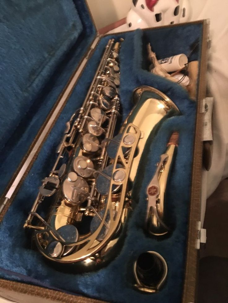VTG Yamaha YAS-21 Yamaha Saxophone w/Yamaha Hard Case #014700A Complete