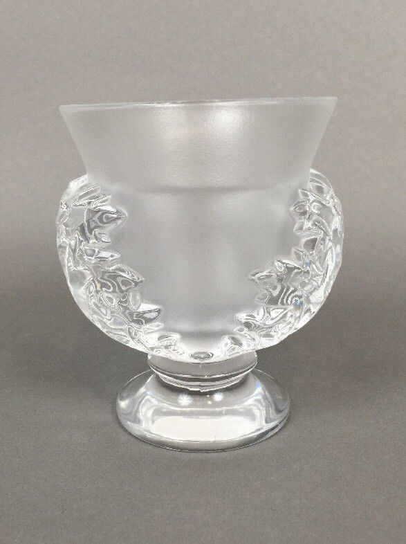 LALIQUE 'SAINT CLOUD' CRYSTAL VASE #Lalique