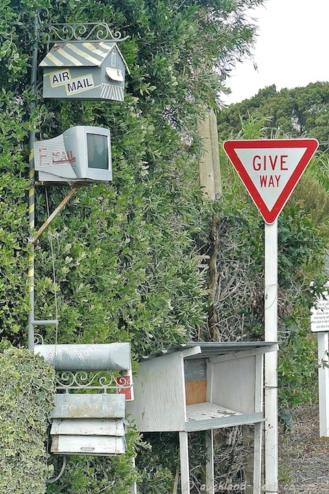 Air Mail, E-Mail, Snail Mail... typical Kiwi humour, captured in Mangawhai