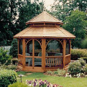 Wood Octagon Gazebos | Victorian Style Gazebo Kits