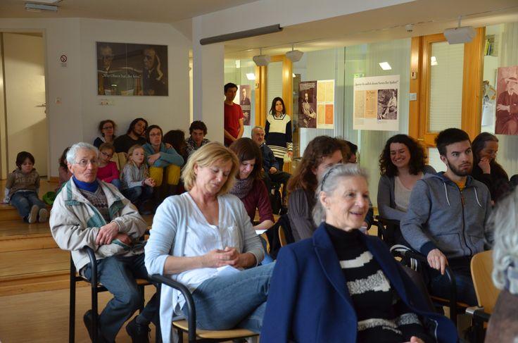 17.03.15 im Literaturhaus am Inn sind einige zur Aktion 15 Orte gekommen.