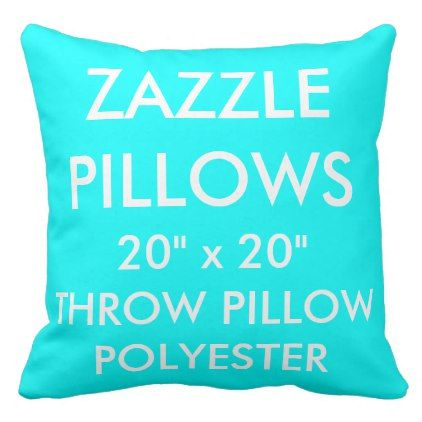 Zazzle Custom AQUA Large Polyester Throw Pillow - diy cyo customize create your own #personalize