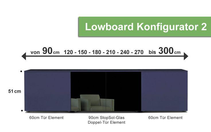 Lampo Lowboard Designer 2 -  Möbel / Schränke / Mediaaufbewahrung / TV- & Mediamöbel -  In diesem Lowboard Konfigurator können Sie sich schnell und einfach Ihre Wunschlowboards konfigurieren.Die Gesamthöhe beträgt 51 cm (auf Anfrage auch in anderen Höhen erhältlich).Erstellen Sie sich Ihr Lowboard nach Maß. Das Lampo Lowboard von San Giacomo ist in den Breiten 90, 120, 150, 180, 210,...