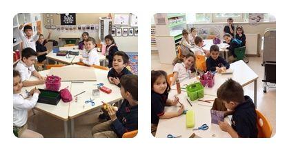 1-A sınıfı olarak Kendimizi Düzenleme Biçimimiz temasının son değerlendirmesini gerçekleştirdik. 2-B Sınıfına giderek yapmış olduğumuz maketin sunumunu yaptık.