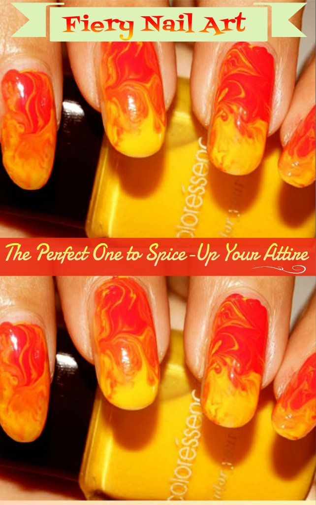 #Fiery #Nail #Art: The Perfect One to Spice-Up Your #Attire  #Diy #NailArt #Makeup #Beautiful Diy Nail art #ideas #DiyIdeas