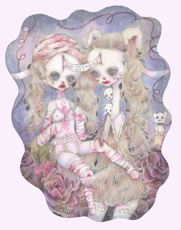 The creepy cute drawings of Risa Mehmet