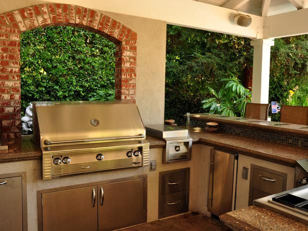 And I Like That There Is Bar Seating Near It. So I Can Be Engaged With  Guests While Grilling. Backyard Kitchen And Bar Outdoor ...
