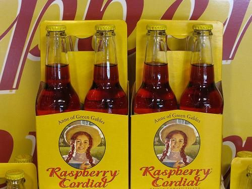 Anne of Green Gables Raspberry Cordial, available in PEI.