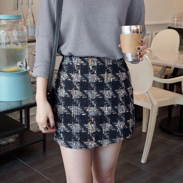 Aliexpress.com: Comprar Pata de gallo falda de lana a cuadros 2015 nuevas para mujer de la falda para mujer Saia Feminina de faldas para mujeres altas fiable proveedores en city life No 2