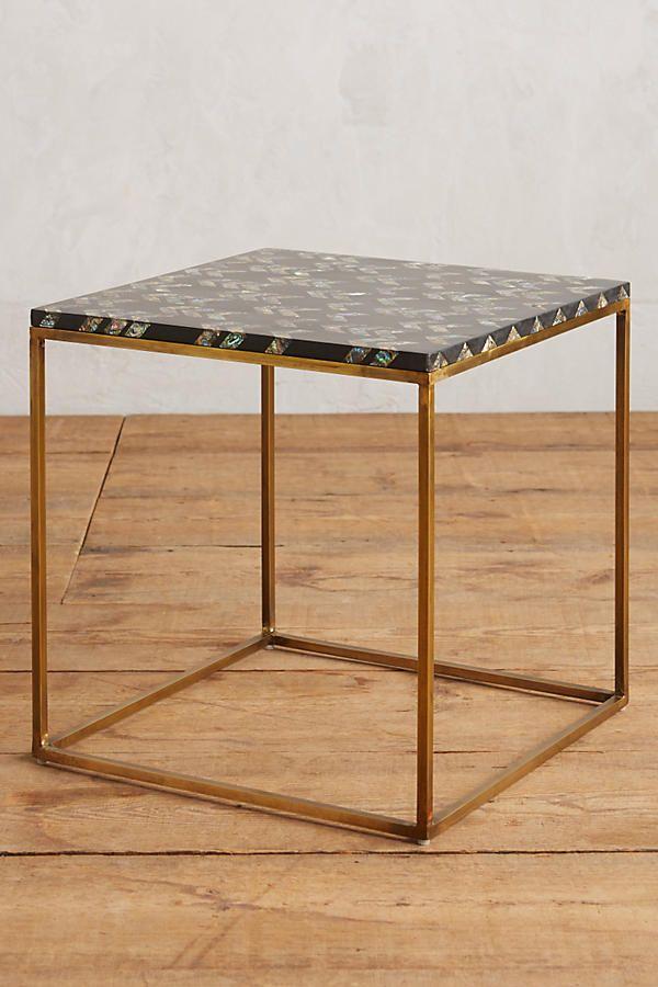 Abalone Arrowhead Side Table