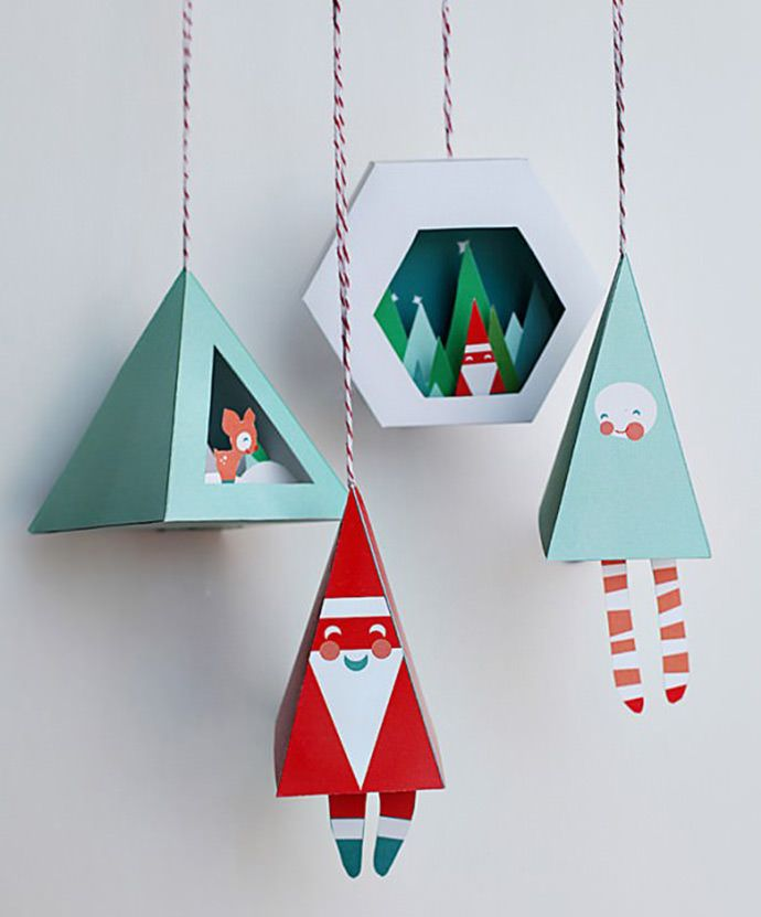 Printable paper Christmas ornaments.