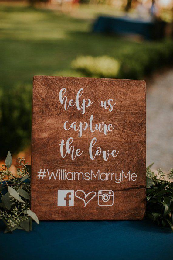 hashtag wedding sign - social media wedding sign - help us capture