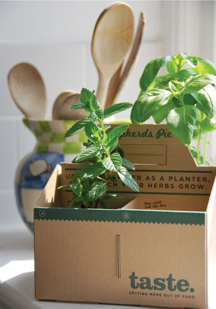To go container that doubles as an herb planter. #design #packaging via @NOTCOTorg - this would be great for client gifts. Just add company logo