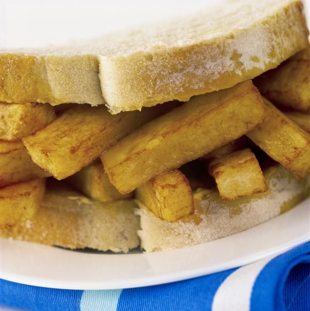 A chip butty, a sandwich made of French fries, is a food phenomenon in the UK, where the humble spud is a food group all its own.