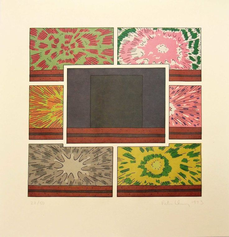 Peter Halley, 'Cell with Explosions 1', 1993