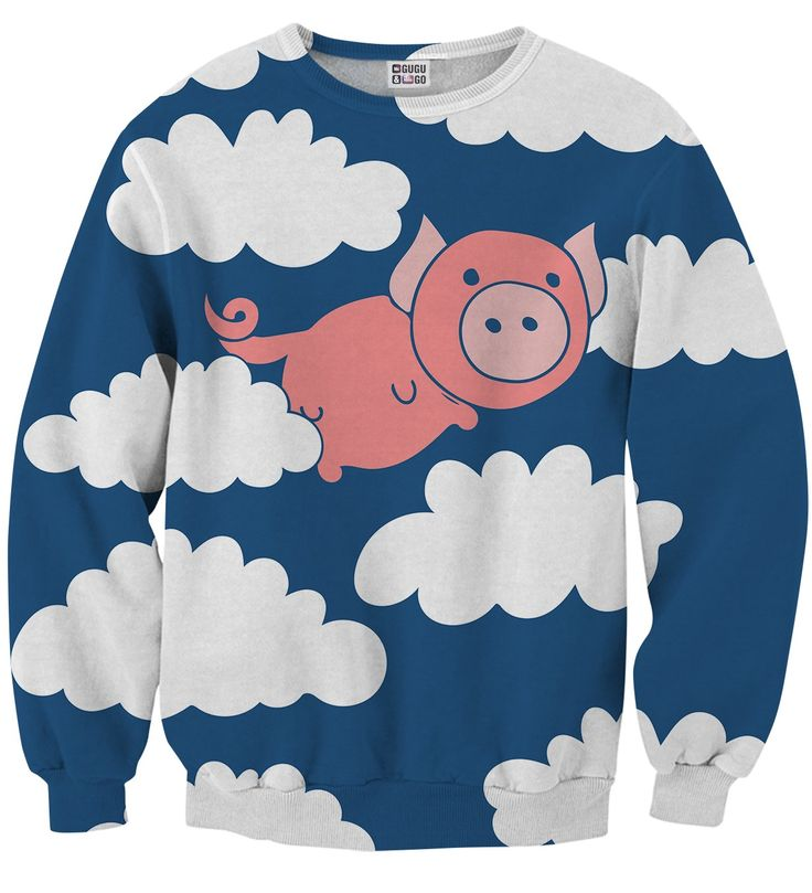 Flying Pigs sweater, Mr. GUGU & Miss GO