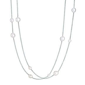 Elsa Peretti® Pearls by the Yard™ sprinkle necklace in sterling silver.