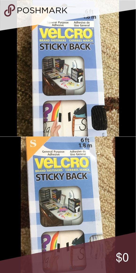 FREE WITH PURCHASE One black and one white Velcro sticky back Velcro Accessories