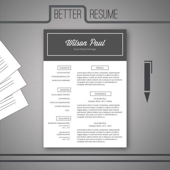 54 best Graphic design images on Pinterest Page layout, Graph - cover letter and resume templates for microsoft word