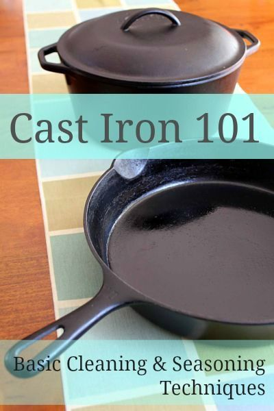 how to clean cast iron permies