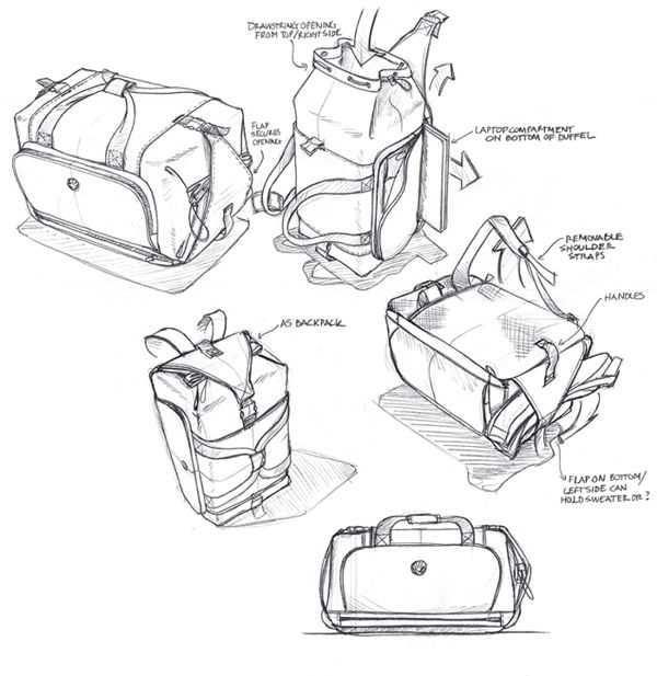 sketching + rendering by studioFAR - Soft Goods Designer , via Behance
