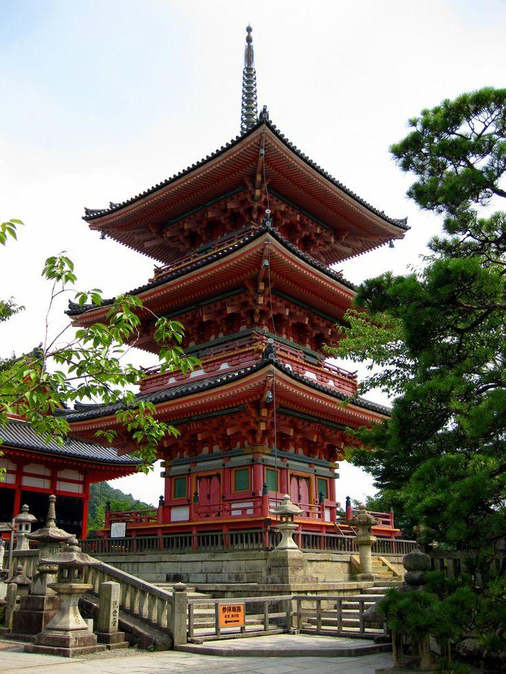 Three Story Pagoda, Otowa-san Kiyomizu-dera, Kyoto, Japan by Richard Ryer