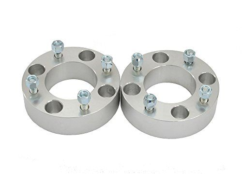 "2pc 2"" Thick 4x115 ATV Wheel Spacers with 10x1.25 Studs/Nuts for Arctic Cat 250 300 400 500 650 700 1000 Prowler 4x4, Yamaha Rear Only: Wildcat Banshee Raptor Warrior (Rear Only) 4/115 Silver. For product info go to:  https://www.caraccessoriesonlinemarket.com/2pc-2-thick-4x115-atv-wheel-spacers-with-10x1-25-studsnuts-for-arctic-cat-250-300-400-500-650-700-1000-prowler-4x4-yamaha-rear-only-wildcat-banshee-raptor-warrior-rear-only-4115-silver/"