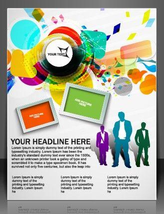 flyer design vector graphics brochures flyers vectors brushes brochure design ruffles paint brushes - Flyer Design Ideas