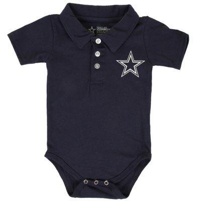 Dallas Cowboys Newborn Henry Polo Bodysuit – Navy Blue