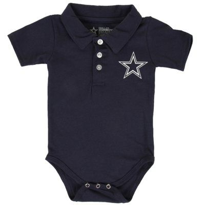 Dallas Cowboys Newborn Henry Polo Bodysuit – Navy Blue