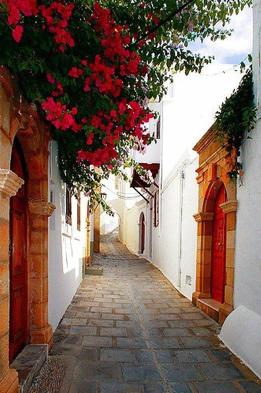 lindos, rhodes island -greece