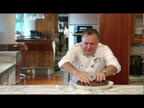 Simon Gault Roasted 100% NZ Pork Loin with Hazlenut Sauce.