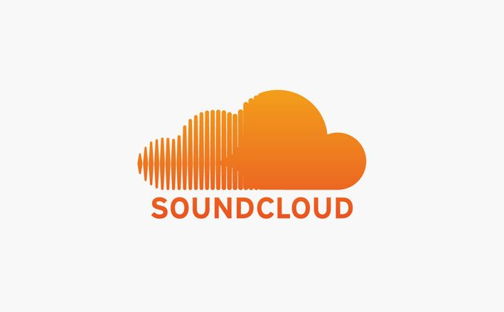 An other simplistic logo, turns a cloud into a soundwave. The colour of the logo is a bright orange which doesn't really have any link to music but makes the logo inviting.