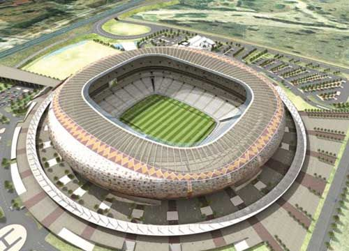 Soccer City in Johannesburg,South Africa,2010