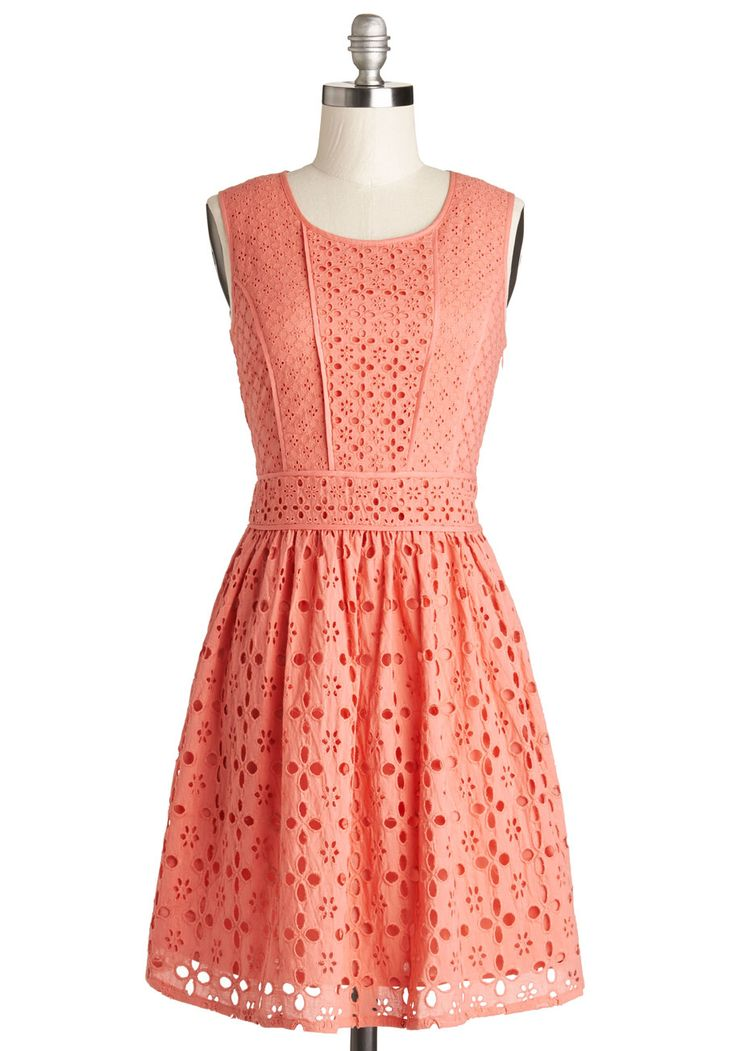 Making Melodies Dress. Inspired and merrily motivated, youre composing a new concerto in this coral dress from Yumi! #pink #modcloth
